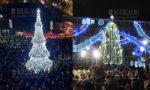 Рождественские елки зажгли огни в Бургасе и Варне