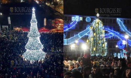 6 декабря, Бургас и Варна обзавелись своими Рождественскими елками