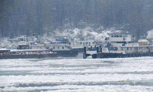 10 января 2017 года, на болгарской части Дуная закрыто судоходство
