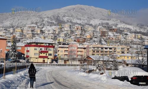 12 января 2017 года, вид на Ардино, регион Кырджали