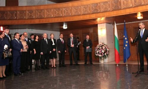 13 января 2017 года, София, Росен Плевнелиев принял глав дипмиссий, аккредитованных в стране