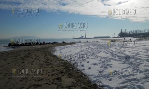 2 января 2017 года, пляжи Бургаса в снегу