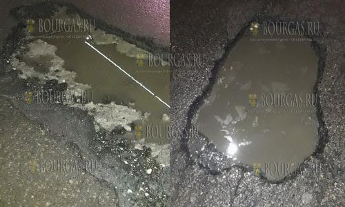 20 января 2017 года, в Варне мороз и снег съедают асфальт, на дорогах города массово образуются ямы