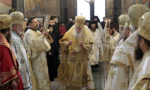 21 января 2017 года, храм Св Неделя в Софии, Патриарх Неофит отслужий литургию по случаю памяти Максима Исповедника и Святого Неофита