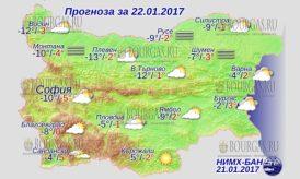 22 января 2017 года, погода в Болгарии