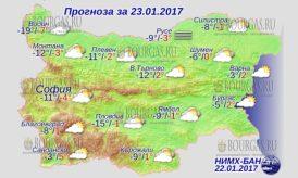 23 января 2017 года, погода в Болгарии