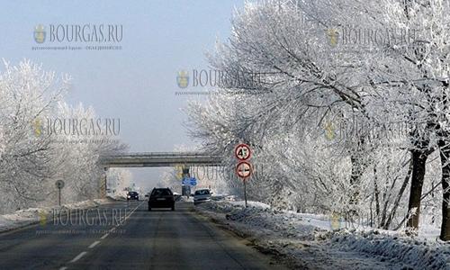 27 января 2017 года, Пловдив, на подъезде к городу красивые зимние пейзажи