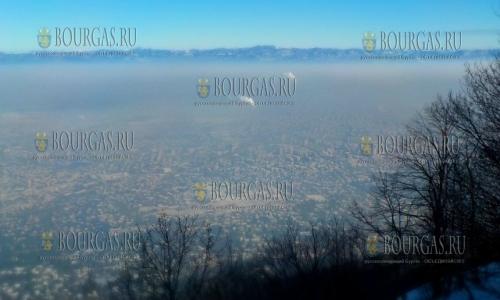 29 января 2017 года, над Софией сегодня , как и всегда в морозы, висит смог, Крупные города Болгарии, Национальные стандарты для топлива в Болгарии