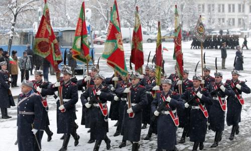 6 января 2017 года, памятник Неизвестному солдату в Софии, прошла ежегодная церемония Богоявленского водосвятия боевых болгарских знамен