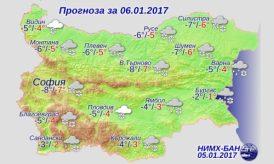6 января 2017 года, погода в Болгарии