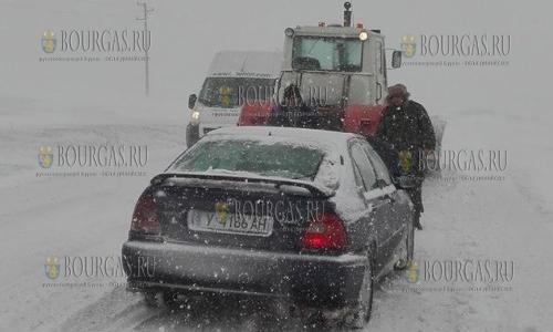 6 января 2017 года, северо-восток Болгарии, такая ситуация была в этот день на дорогах в регионе