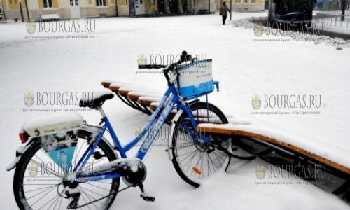 7 января 2017 года, Бургас, город-курорт в снегу