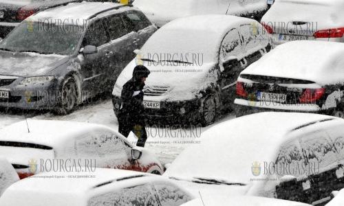 7 января 2017 года, София, мороз и снег, без солнца