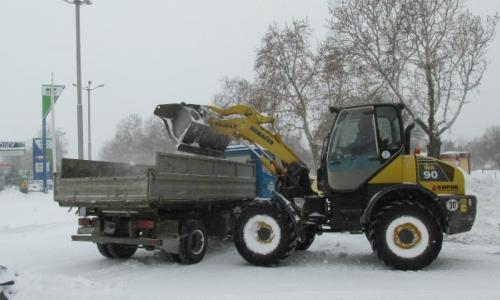 9 января 2017 года, Силистра и здесь идет уборка снега
