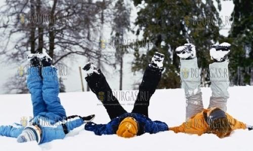 Морозам в Болгарии радуются дети, полюс холода в Болгарии