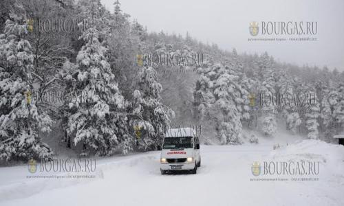 В некоторых регионах Болгарии уже около 1 м снега, регионах Болгарии