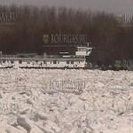 Паромное сообщение между Болгарией и Румынией приостановлено, болгарском участке Дуная