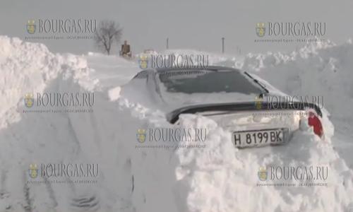 В Болгарии в сугробе нашли авто