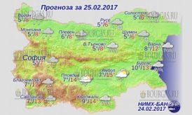 25 февраля 2017 года, погода в Болгарии