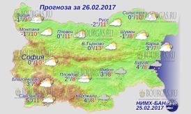 26 февраля 2017 года, погода в Болгарии