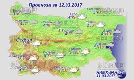 12 марта 2017 года, погода в Болгарии