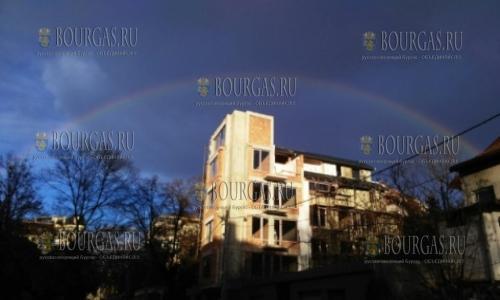 6 марта 2017 года, радуга в мартовском небе над Болгарией