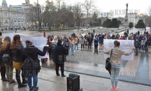 7 марта 2017 года, Русе, здесь протестовали против врачебных ошибок из-за которых гибнут люди