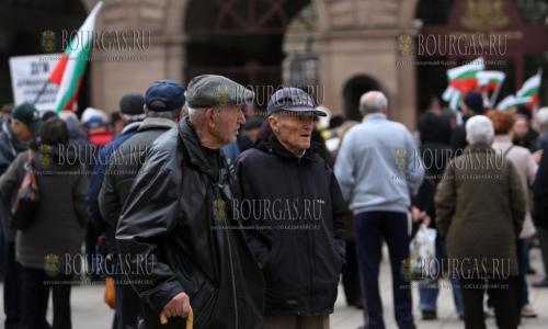 9 марта 2017 года, София, болгасркие пенсионеры протестуют, а не устраивает их размер минимальной пенсии, который равен лишь 82 евро