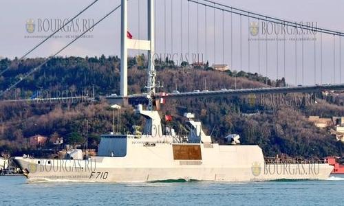 Французский фрегат-невидимка La Fayette в Варне