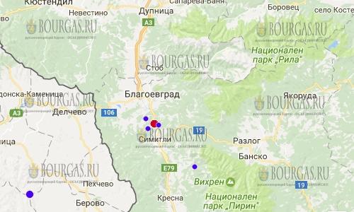 Землетрясение в Благоевграде