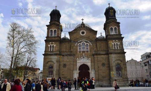 16 апреля 2017 года, храм Святых Кирилла и Мефодия в Бургасе