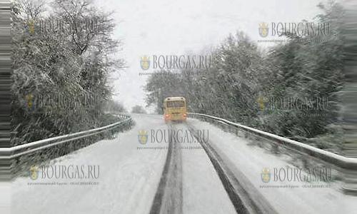 20 апреля 2017 года, дорога в районе Разграда, в третьей декаде апреля сюда вернулась зима