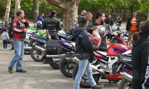 29 апреля 2017 года, Шумен, местные мотоциклисты сегодня открыли сезон