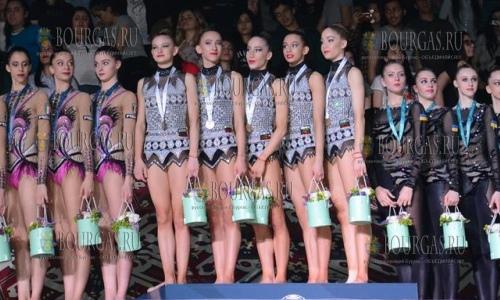 Сборная Болгарии по художественной гимнастике выиграла золото в многоборье выиграла на этапе кубка Мира, который проходил в Баку