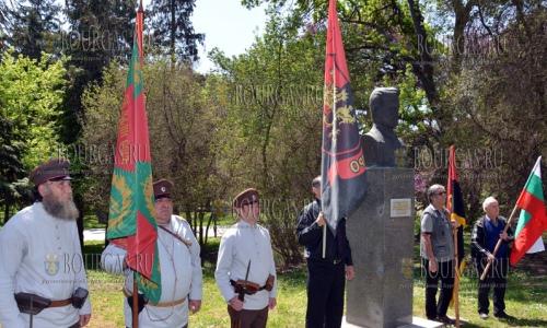 4 мая 2017 года, Варна, здесь почтили память болгарского революционера Гоце Делчева, который погиб 114 лет назад