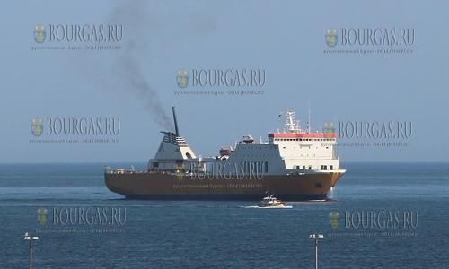 5 мая 2017 года, Варна, на корабле-строительный завод прибыло судно LLEVANT, которое заменит паром Дружба