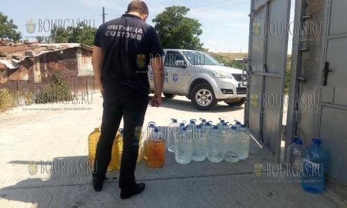 В Бургасской области обнаружили 3 500 литров нелегального алкоголя