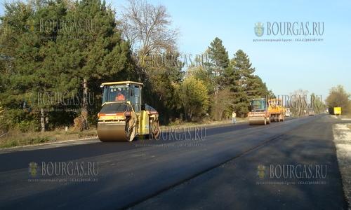 Трасса Варна - Добрич и далее по направлению к Негре Воде на ремонте
