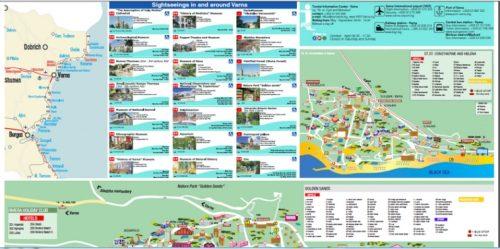 туристическая карта Варны