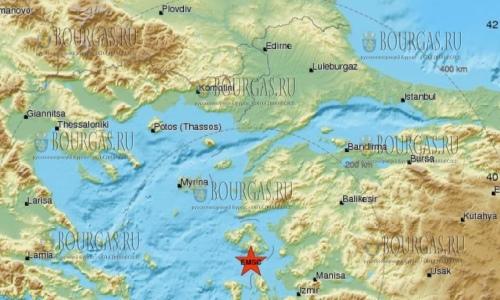 Сегодня трясло большую часть Болгарии
