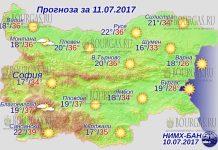 11 июля 2017 года, погода в Болгарии