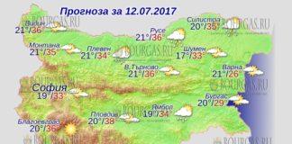 12 июля 2017 года, погода в Болгарии
