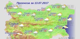 13 июля 2017 года, погода в Болгарии