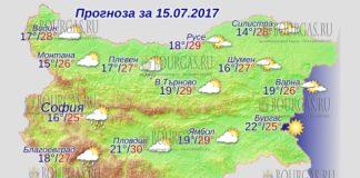 15 июля 2017 года, погода в Болгарии