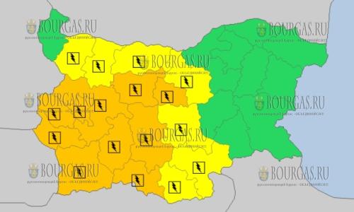 16 июля 2017 года, горячий Желтый код в Болгарии