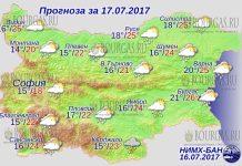 17 июля 2017 года, погода в Болгарии