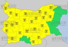 24 июля 2017 года, горячий Желтый код в Болгарии
