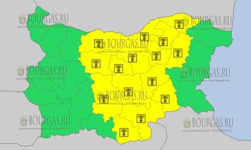 25 июля 2017 года, горячий Желтый код в Болгарии