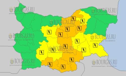 27 июля 2017 года, грозовой и дождливый Желтый код в Болгарии