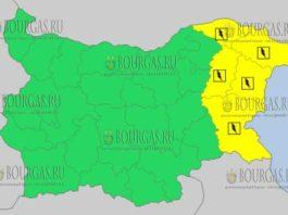 28 июля 2017 года, грозовой и дождливый Желтый код в Болгарии